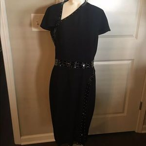 ALEXANDER McQUEEN Black Midi Dress 44/M